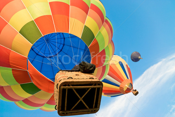 Stock photo: colourful hot air balloons in the sky