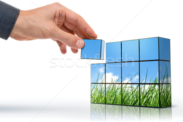 Stock photo: eco thinking