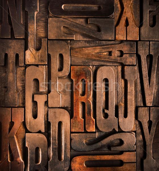 Antiguos tipográfico bloques edad textura Foto stock © italianestro