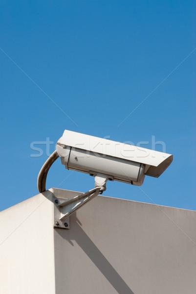 наблюдение камеры закрыто схеме телевизор голубой Сток-фото © italianestro
