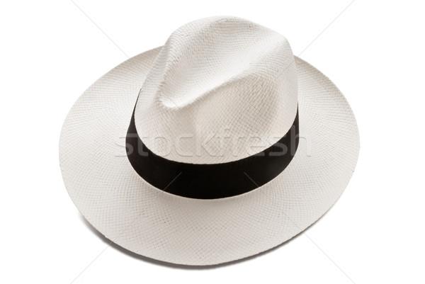 Panama kalap modell izolált fehér Stock fotó © italianestro