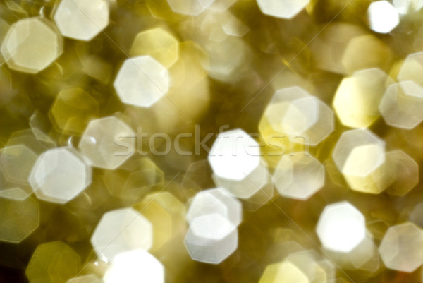 Photo stock: Or · lentille · bokeh · effet · Noël