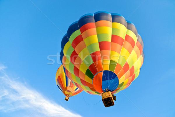 Caldo aria palloncini cielo due battenti Foto d'archivio © italianestro