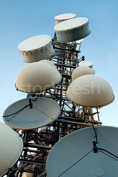 電気通信 塔 料理 鉄 電話 ストックフォト © italianestro