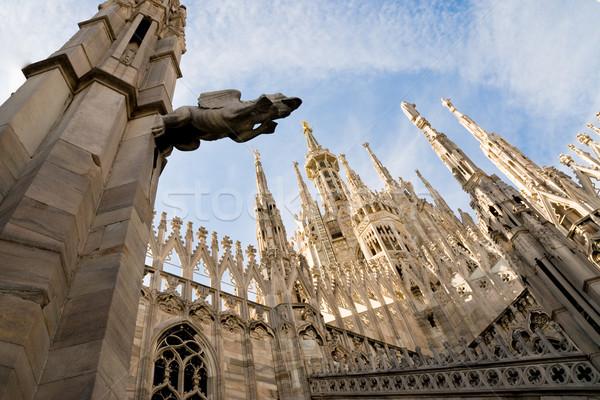 Milán catedral vista gótico Italia Foto stock © italianestro
