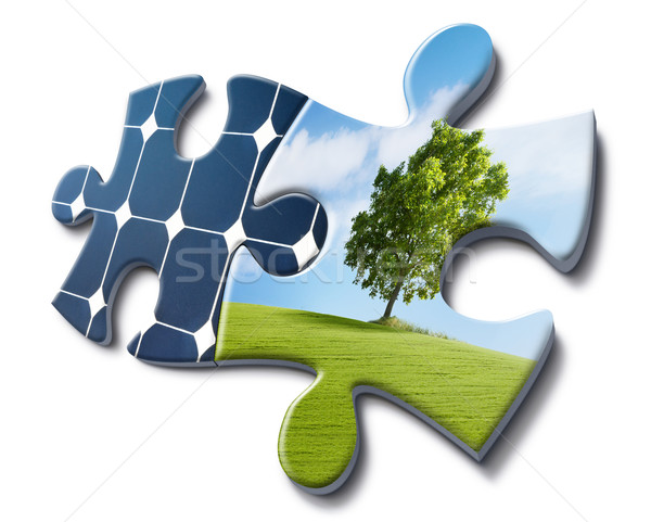 nature loves solar energy Stock photo © italianestro