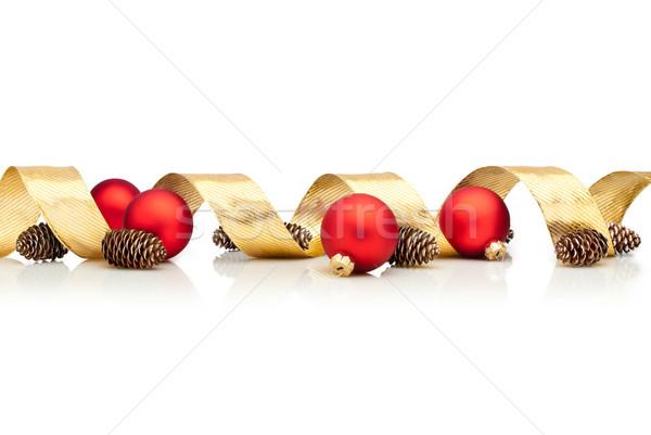 クリスマス 装飾 リボン 赤 ガラス ストックフォト © italianestro