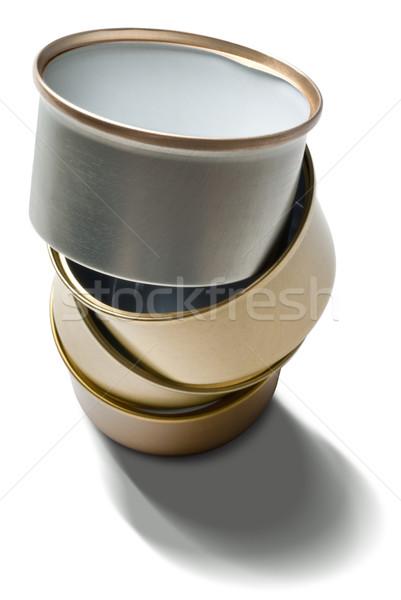 Stock fotó: Köteg · fémes · újrahasznosított · izolált · fehér · háttér
