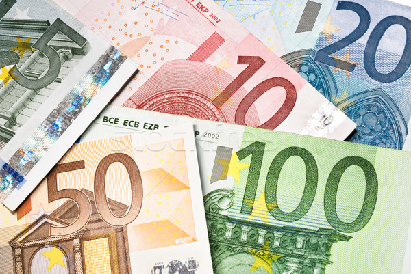 Euro bani bancă notiţe valuta bancnote Imagine de stoc © italianestro