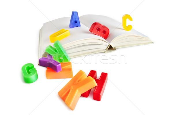 Escuela tiempo colorido alfabeto cartas libro Foto stock © italianestro