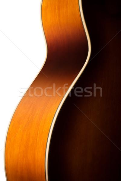 Chitarra acustica corpo dettaglio contorno legno chitarra Foto d'archivio © italianestro