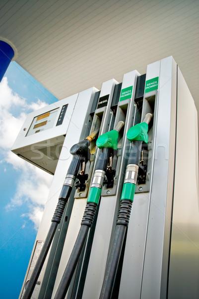 üzemanyag panel benzinkút alulról fotózva kilátás autó Stock fotó © italianestro
