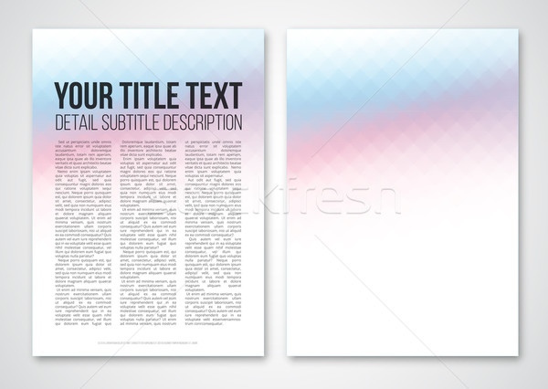 テンプレート 抽象的な ベクトル デザイン カラフル 幾何学的な ストックフォト © iunewind