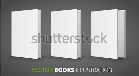 3  ベクトル 図書 異なる サイズ グレー ストックフォト © iunewind