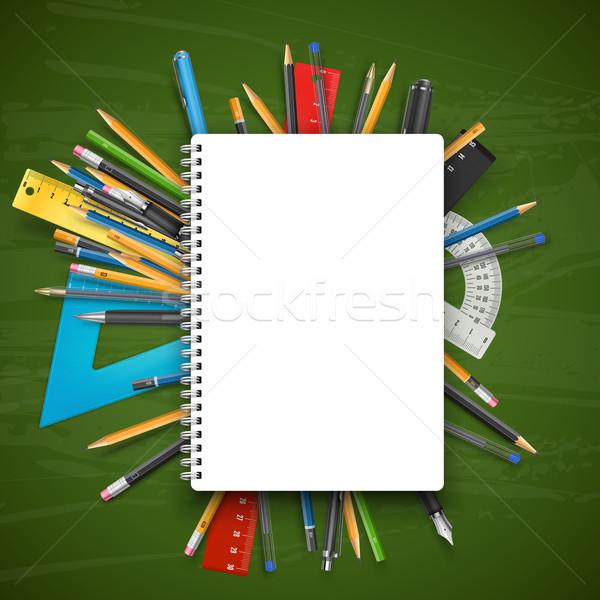 帳 ペン ノートブック 鉛筆 黒板 ストックフォト © iunewind