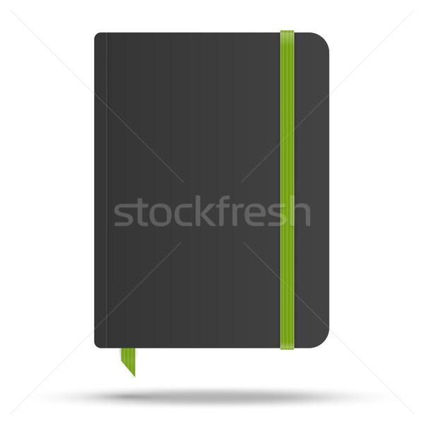 Notebook groene elastisch band vector afbeelding Stockfoto © iunewind