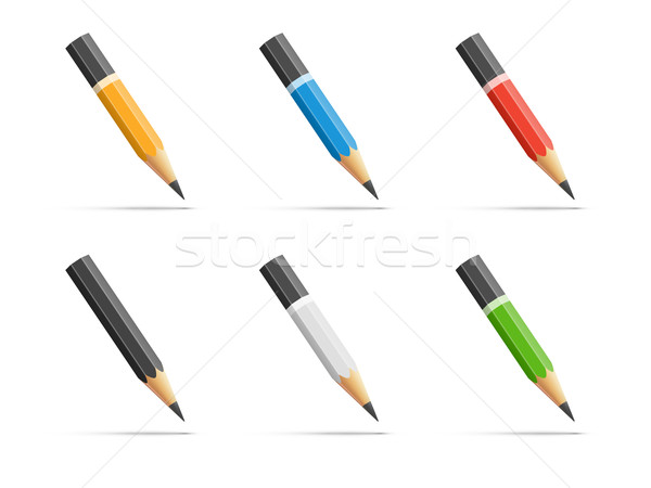 Pencils icon set Stock photo © iunewind