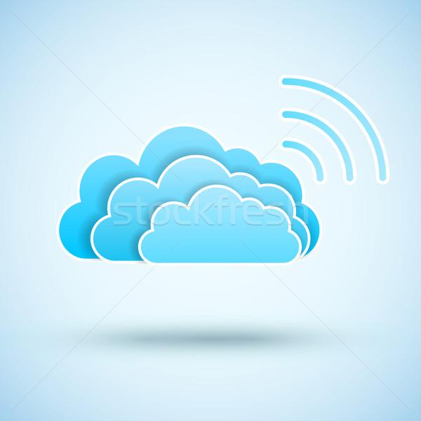 Cloud with  Wifi symbol Stock photo © iunewind