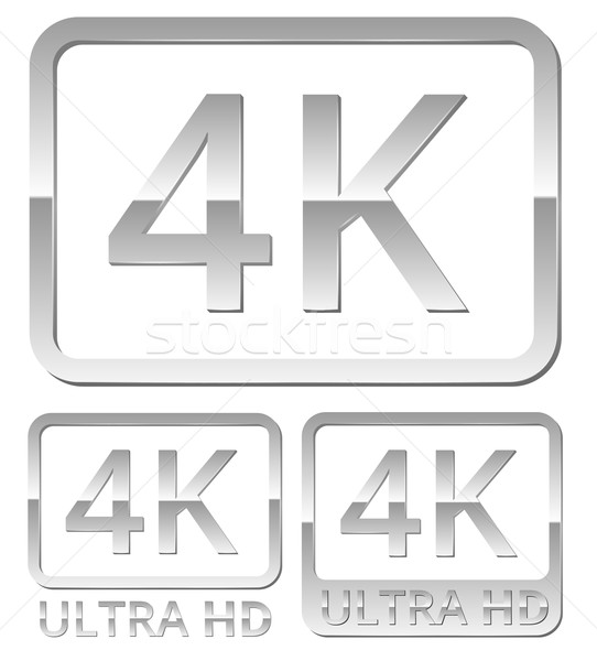 Ultra HD 4K icon Stock photo © iunewind