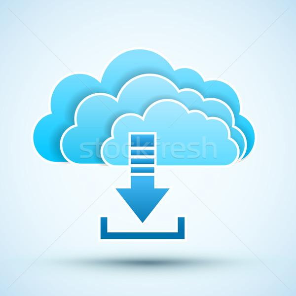 ícone nuvem ilustração tecnologia rede Foto stock © iunewind