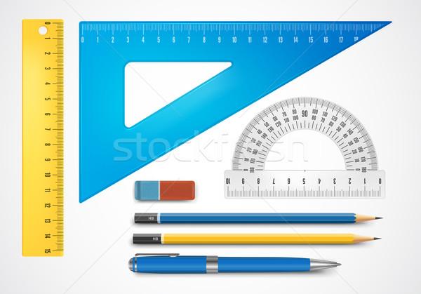 学用品 カラフル 鉛筆 背景 戻る 色 ストックフォト © iunewind