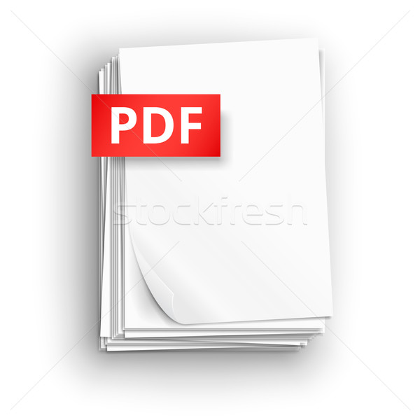 Pdf бумаги лист иконки большой Сток-фото © iunewind