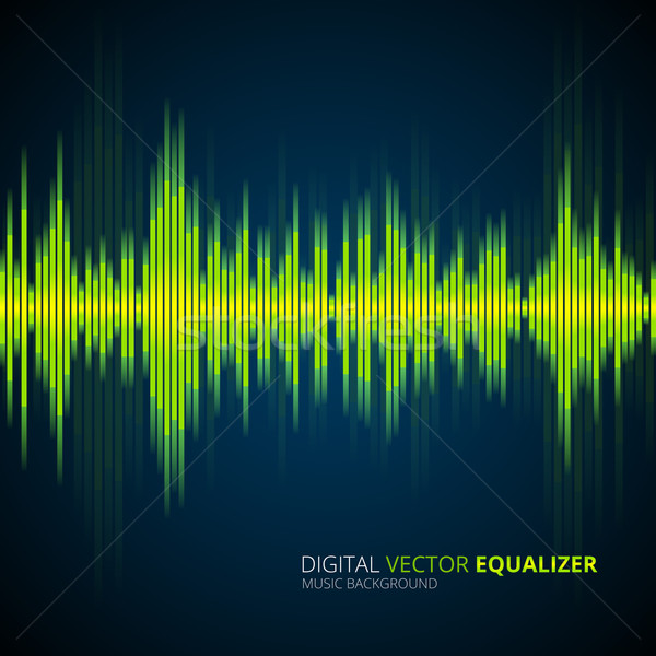 Abstract musica equalizzatore vettore design Foto d'archivio © iunewind