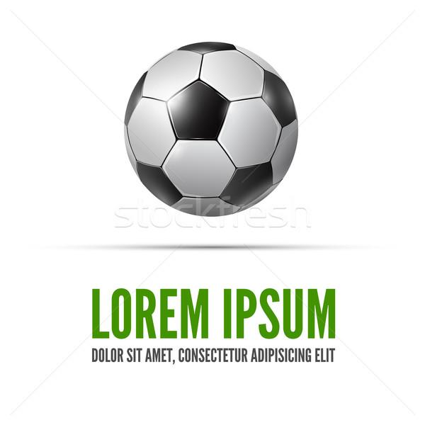 デザイン サッカー サッカーボール ベクトル テンプレート サッカー ストックフォト © iunewind