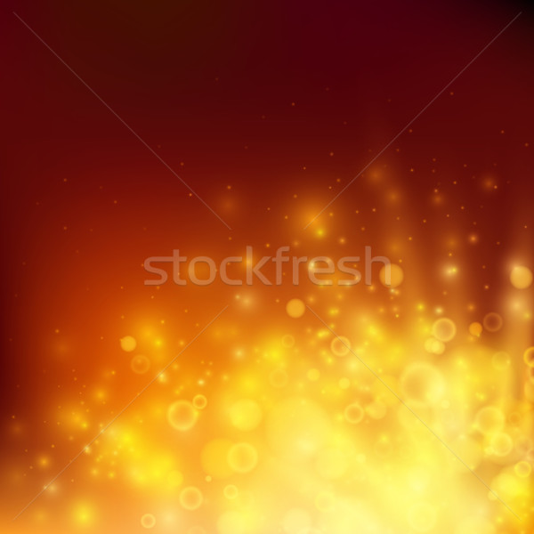 Abstract fire bokeh. Vector background Stock photo © iunewind