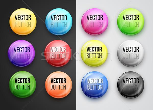Botão vetor projeto elementos abstrato Foto stock © iunewind