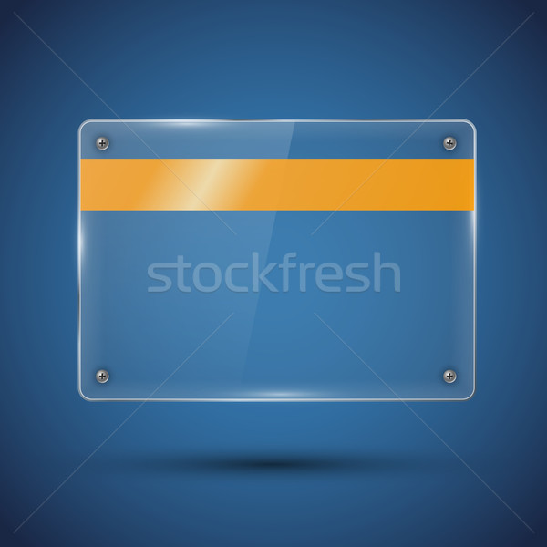 Vetor bandeira brilhante luzes azul Foto stock © iunewind