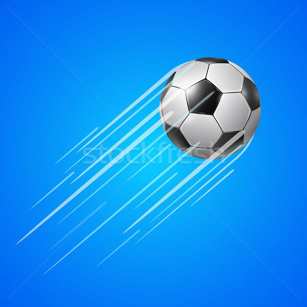 Soccer ball  with trail Stock photo © iunewind