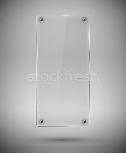 Szkła struktura wysoki śruby szary sztuki Zdjęcia stock © iunewind