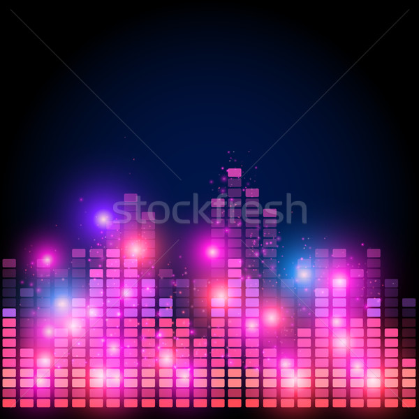Equalizer on abstract technology background Stock photo © iunewind