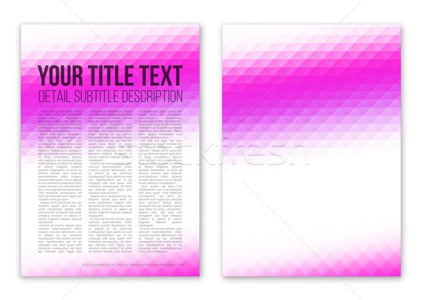 Violet boekje dekken sjabloon vector ontwerp Stockfoto © iunewind