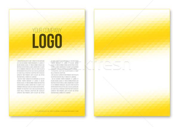 黄色 三角形 抽象的な テンプレート ポスター ストックフォト © iunewind