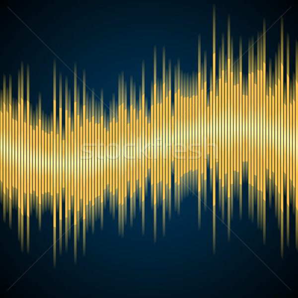 Korektor żółty wektora streszczenie muzyki fali Zdjęcia stock © iunewind