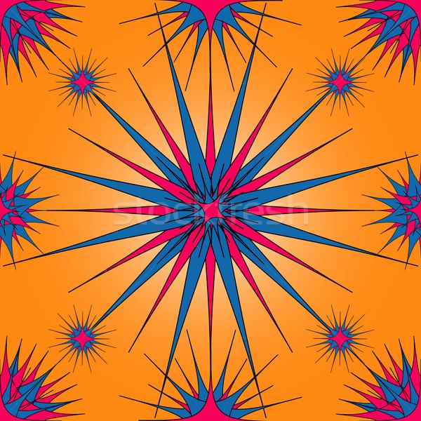 レトロな カーペット 民族 飾り ベクトル ストックフォト © iunewind
