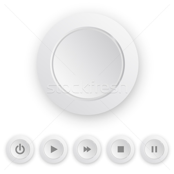 Media player white push button Stock photo © iunewind