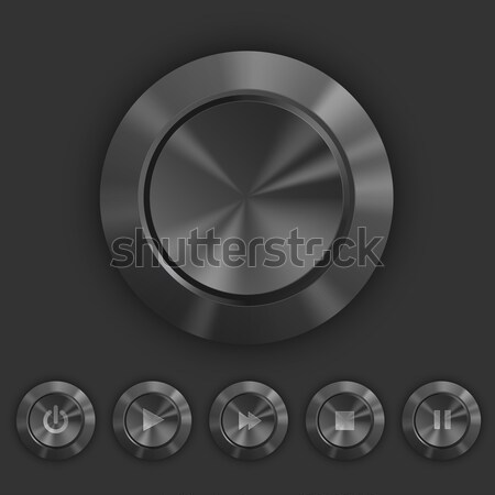 Metal button, vector Stock photo © iunewind