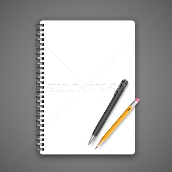 ノートブック 鉛筆 グレー ビジネス 紙 学校 ストックフォト © iunewind