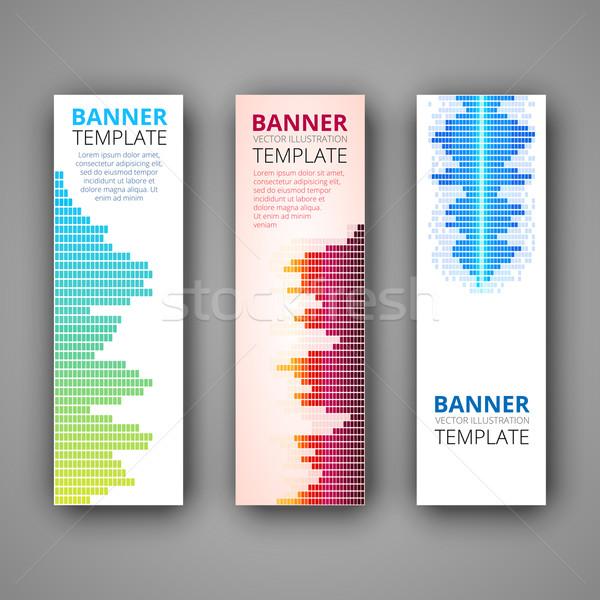 Conjunto moderno vetor banners soar projeto Foto stock © iunewind