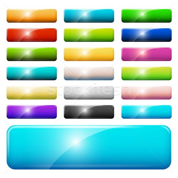 ウェブ ボタン セット 抽象的な ストックフォト © iunewind