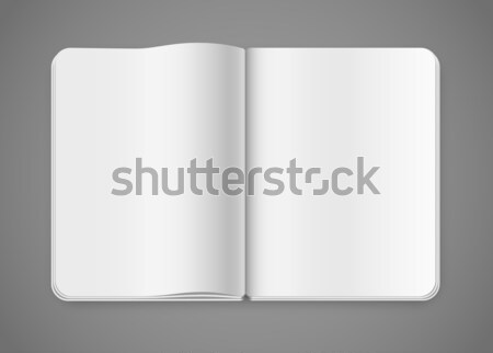 Bloco de notas modelo revista realista livro Foto stock © iunewind