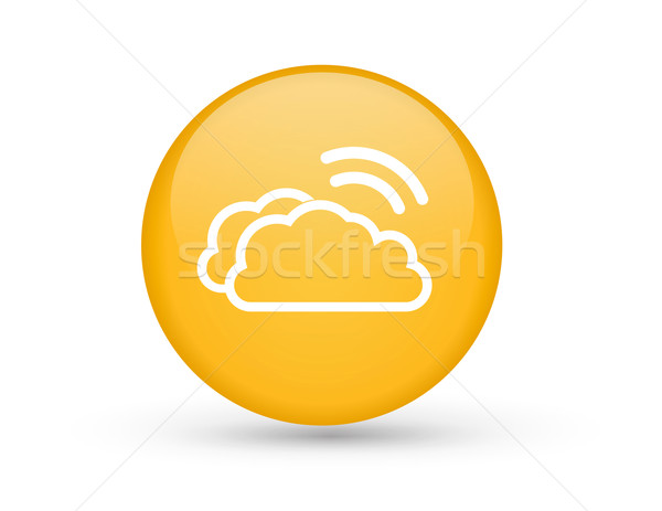 Clouds with Wifi symbol Stock photo © iunewind
