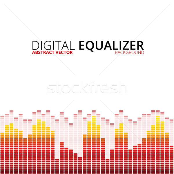 Graphic equalizer background Stock photo © iunewind