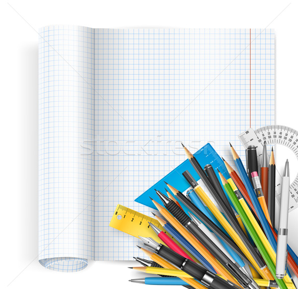 Notepad and pens Stock photo © iunewind
