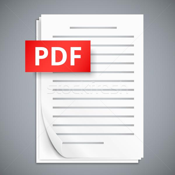Pdf 紙 シート アイコン スタック デザイン ストックフォト © iunewind