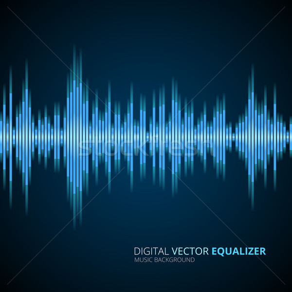 Abstract equalizer background blue Stock photo © iunewind