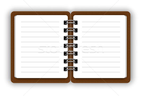 Abrir caderno branco papel reunião fundo Foto stock © iunewind